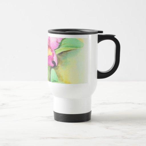Pink Catleya Orchid Flower Art - Multi Travel Mug