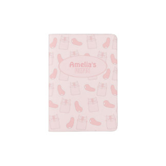 Pink Cats and Jellybeans Passport Holder