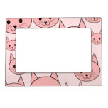 Pink Cats Pattern. Magnetic Frame