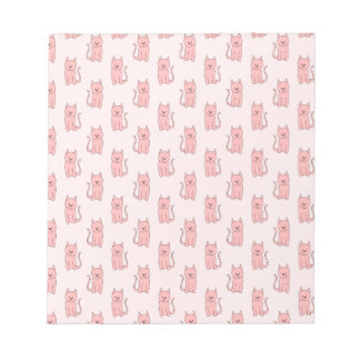Pink Cats. Pattern Note Pad