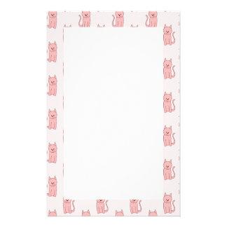 Pink Cats. Pattern Stationery