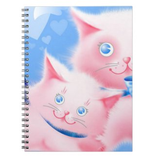 Pink Cats Spiral Notebooks