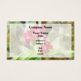 Pink Cattleya Orchids Business Card