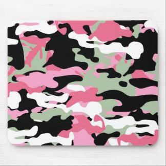 Pink & Celadon Green Camo Mousepad