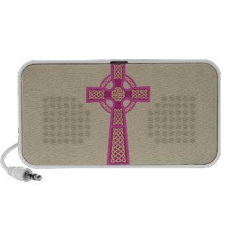 Pink Celtic Cross Doodle MP3 Speaker
