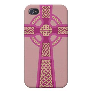 Pink Celtic Cross iPhone 4 Case