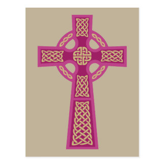 Pink Celtic Cross Postcards