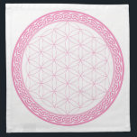"Pink Celtic Flower of Life Crystal Grid for Love Napkin<br><div class=""desc"">A beautiful Celtic Flower of Life Crystal Grid Cloth to help you manifest love!</div>"