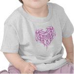 Pink Celtic Heart Knot Tee Shirt