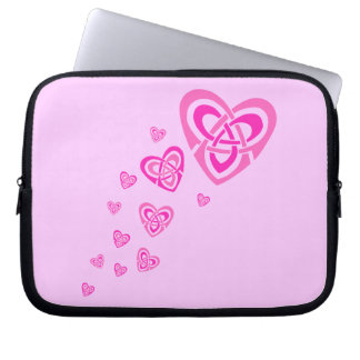 Pink Celtic Hearts Laptop Bags Computer Sleeve