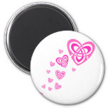 Pink Celtic Hearts Magnet