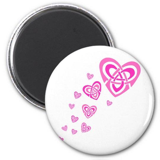 Pink Celtic Hearts Magnet