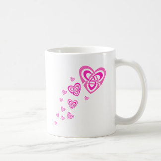 Pink Celtic Hearts Mugs