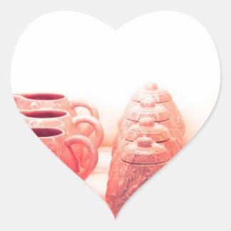 Pink Ceramics Heart Sticker