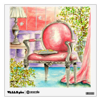 Pink Chair Dinning Room   Wall Decal