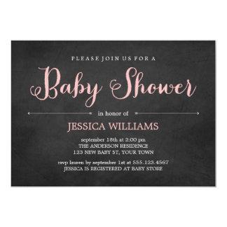 Pink Chalkboard Baby Shower Card
