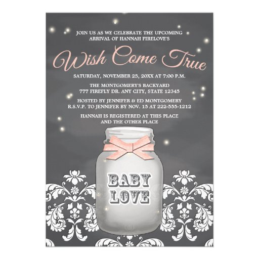 personalized rustic girl baby shower invitations, Baby shower invitations