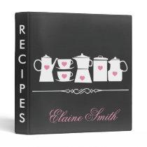 Pink Chalkboard Kitchen Bridal Recipe Folder