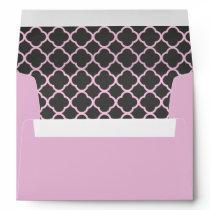 Pink Chalkboard Pattern Envelope