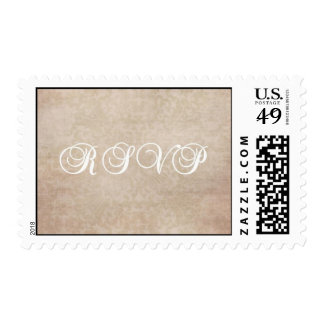 Pink, Champagne, and White Patterned RSVP Stamp