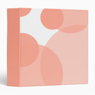 Pink Champagne Bubbles Modern 3 Ring Binder