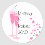 Pink Champagne! Classic Round Sticker