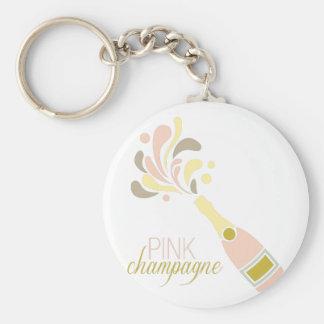 Pink Champagne Keychain