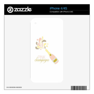 Pink Champagne iPhone 4S Skins