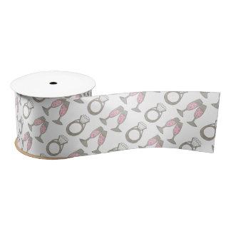Pink Champagne Wedding Ring Bridal Shower Ribbon