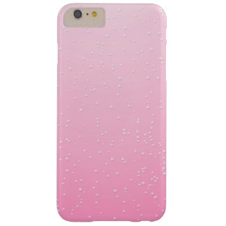 Pink Champagne with Tiny Bubbles Background Art Barely There iPhone 6 Plus Case