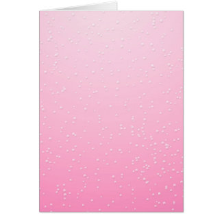 Pink Champagne with Tiny Bubbles Background Art Card