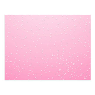 Pink Champagne with Tiny Bubbles Background Art Postcard