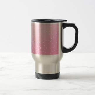 Pink Champagne with Tiny Bubbles Background Art Travel Mug