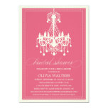 PINK CHANDELIER | BRIDAL SHOWER INVITATION