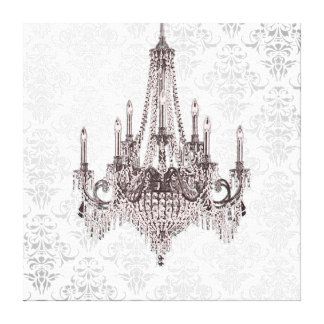 Pink Chandelier Gallery Wrap Canvas