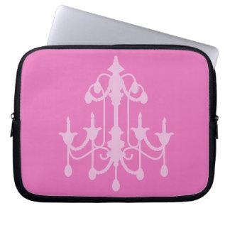 Pink Chandelier Laptop Sleeve