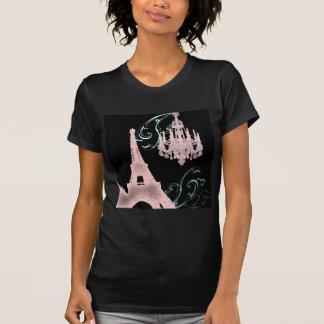 Pink Chandelier Paris Wedding SaveTheDate Tee Shirts