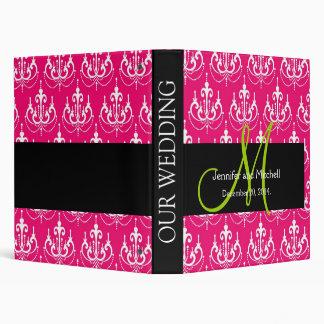 Pink Chandelier Pattern Wedding Planner Binder