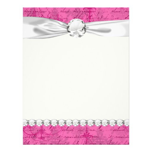 Pink Chandelier Vintage Writing Background 8 5 Quot X 11