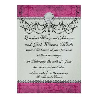 pink chandelier vintage writing background card
