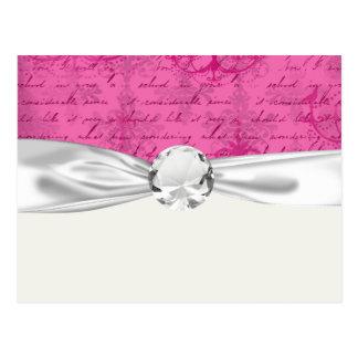 pink chandelier vintage writing background postcard