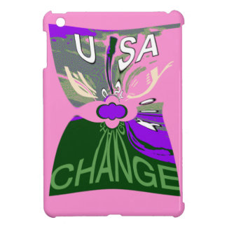Pink Change  Hillary USA We Are Stronger Together. Cover For The iPad Mini