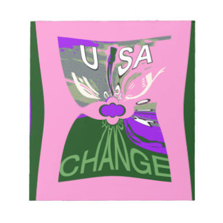 Pink Change  Hillary USA We Are Stronger Together. Notepad