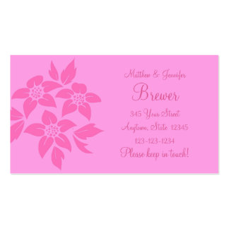 Pink Change of Address Contact Information Card Business Card