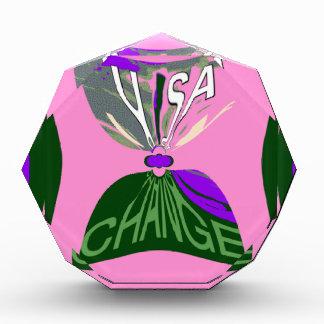 Pink Change  USA pattern design art Acrylic Award