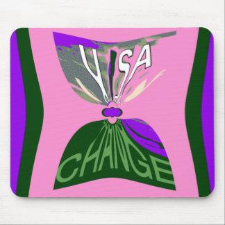 Pink Change  USA pattern design art Mouse Pad