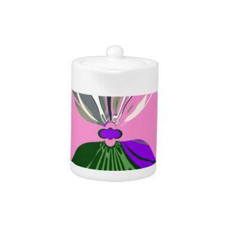 Pink Change  USA pattern design art Teapot