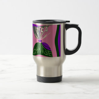 Pink Change  USA pattern design art Travel Mug