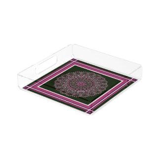 Pink Chaos Mandala Acrylic Serving Tray