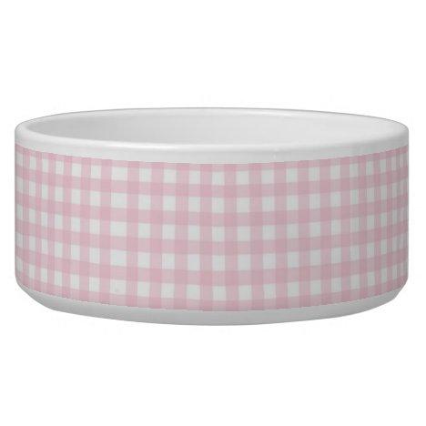 Pink Check Bowl